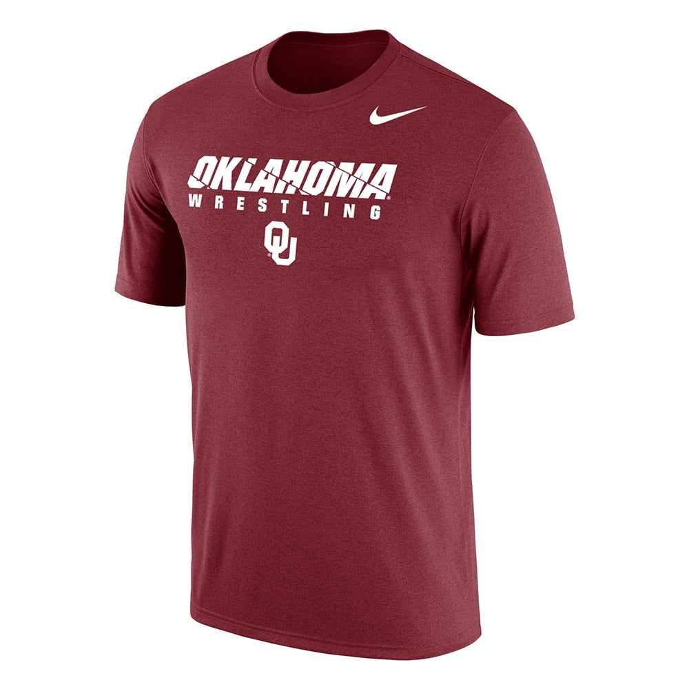 Oklahoma Sooners Wrestling Nike Dri-Fit Cotton Tee