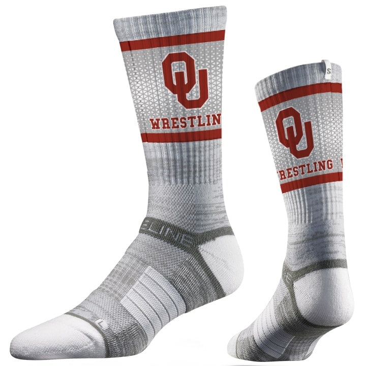 Oklahoma Sooners Wrestling Performance Socks
