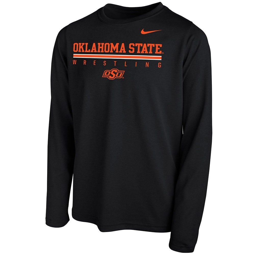 Oklahoma State Cowboys Nike Wrestling Dri-Fit Legend 2.0 Long Sleeve Tee