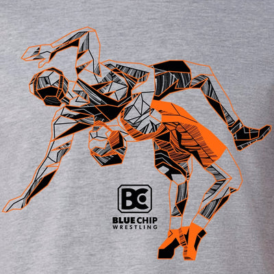 Blue Chip Wrestling Icon T-Shirt (Black / Orange)
