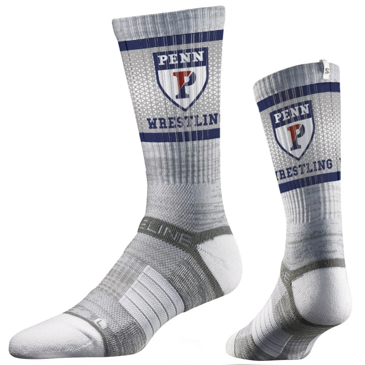 Penn Quakers Wrestling Performance Socks