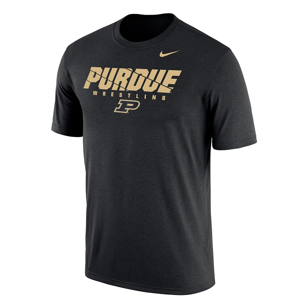 Purdue Boilermakers Nike Wrestling Dri-Fit Cotton Tee