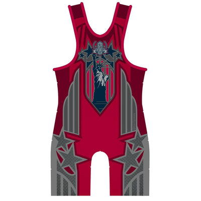 Red Patriot Wrestling Singlet