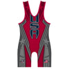 Made 4 U Red Patriot Wrestling Singlet