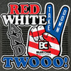 Red White and Twooo Wrestling T-Shirt