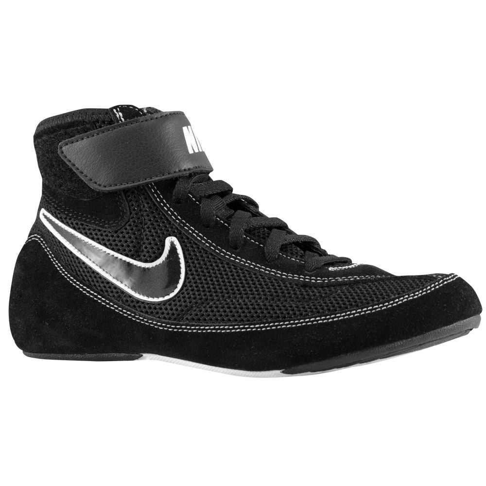 Nike Youth Speedsweep VII Wrestling Shoes (Black / Black / White)