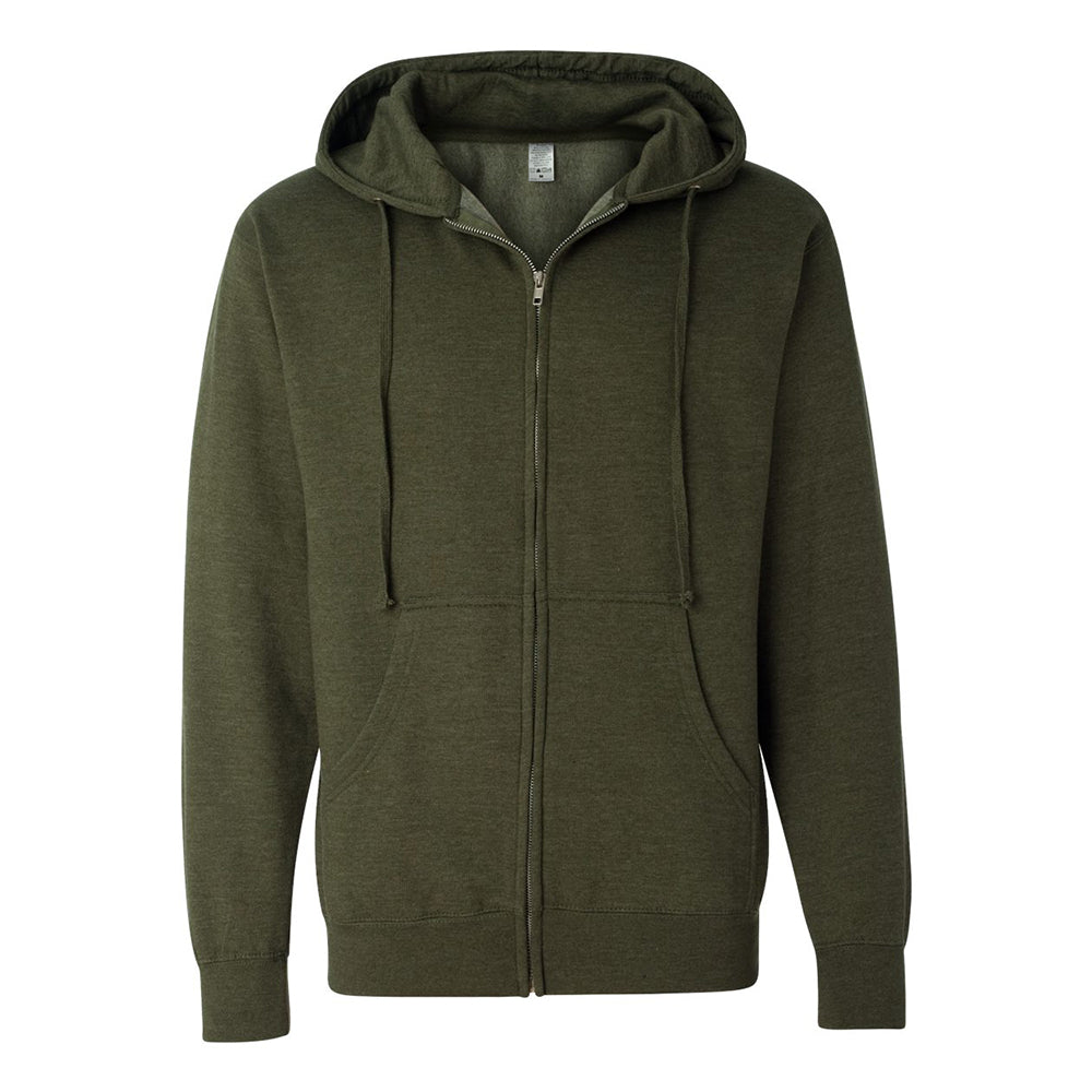 Independent Trading Co. Midweight Hooded Full-Zip Sweatshirt