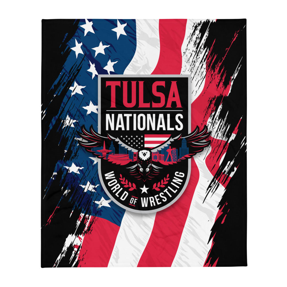 Tulsa Nationals Throw Blanket