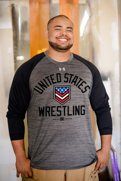United States Wrestling UA Novelty Long Sleeve Locker T
