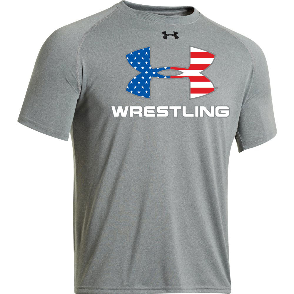 UA Wrestling Flag Locker T (True Grey Heather)