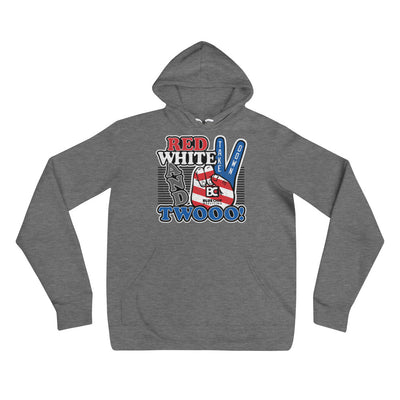 Red White and Twooo Wrestling Pullover Hoodie