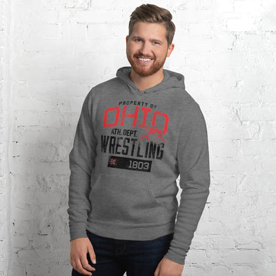 Property Of Ohio Wrestling Pullover Hoodie