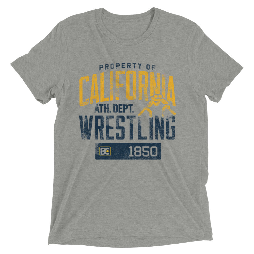 Property Of California Triblend Wrestling T-Shirt