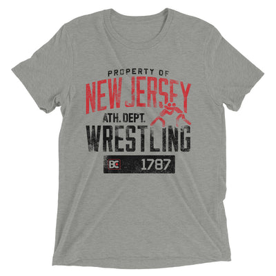 Property Of New Jersey Triblend Wrestling T-Shirt