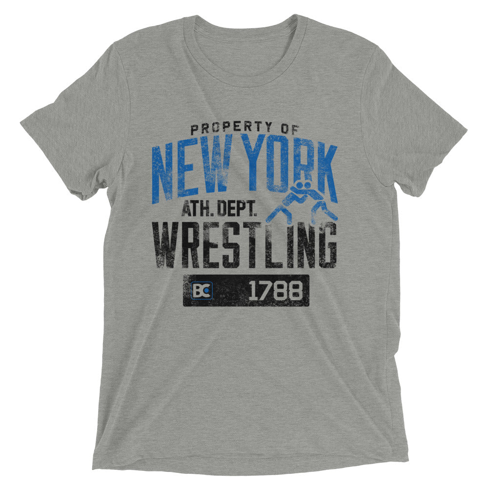 Property Of New York Triblend Wrestling T-Shirt