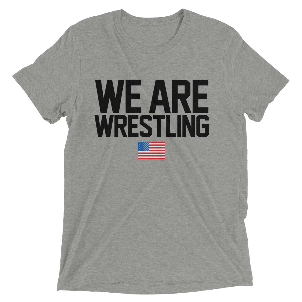 We Are Wrestling Triblend Wrestling T-Shirt