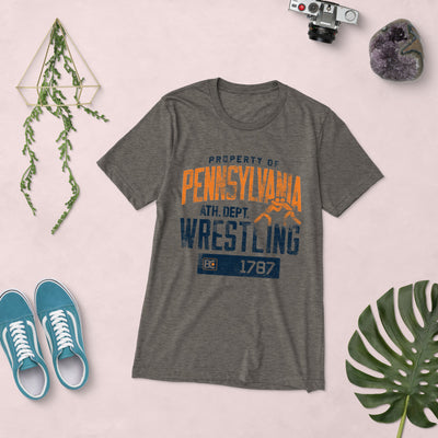 Property Of Pennsylvania Triblend Wrestling T-Shirt
