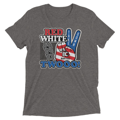 Red White and Twooo Triblend Wrestling T-Shirt