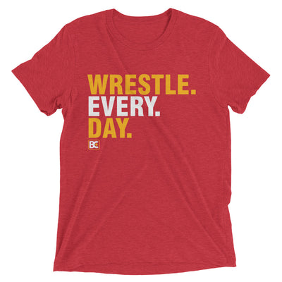 Wrestle Every Day Triblend Wrestling T-Shirt