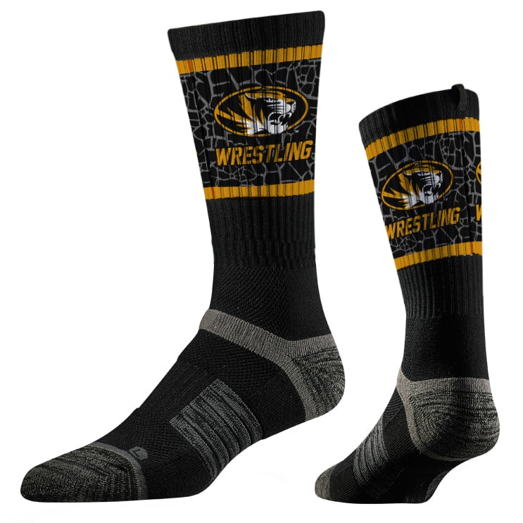 Missouri Tigers Wrestling Performance Socks