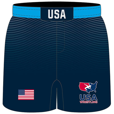 USA Fade Hybrid Wrestling Shorts