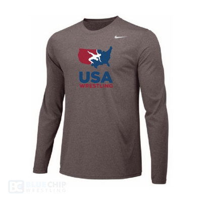 Nike USA Wrestling Team Legend Training Top (Grey)
