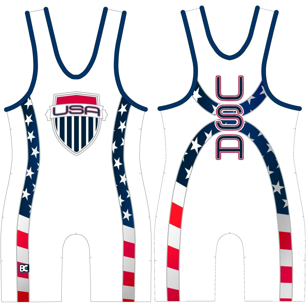 USA Courage Wrestling Singlet