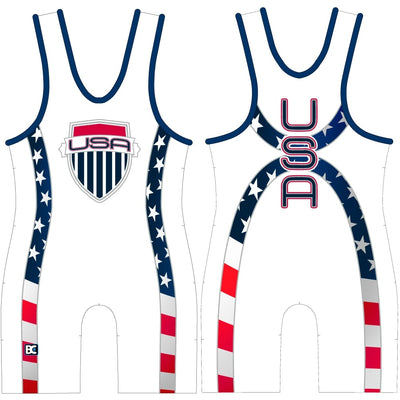 Made 4 U USA Courage Wrestling Singlet