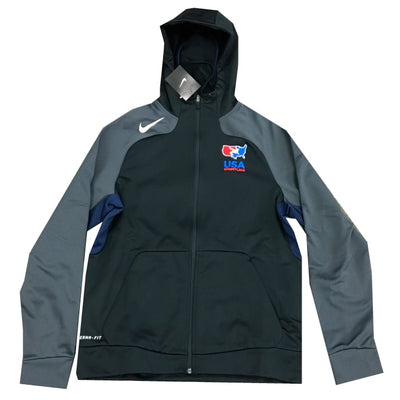 Nike USA Wrestling Full Zip Hooded Jacket (Black)