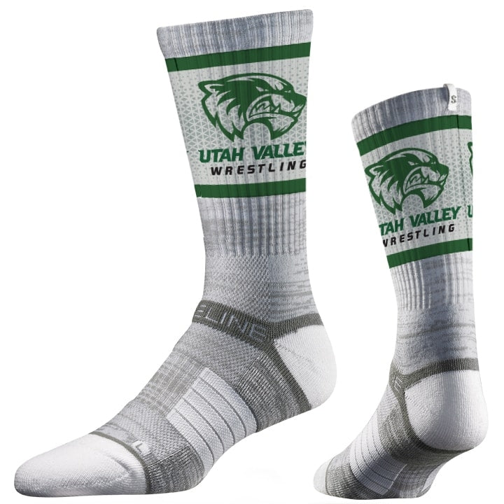 Utah Valley Wolverines Wrestling Performance Socks