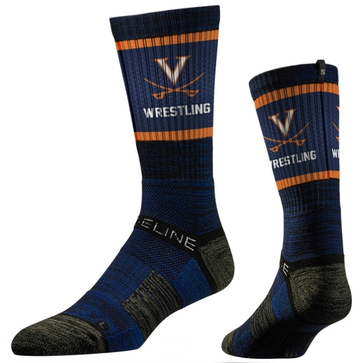 Virginia Cavaliers Wrestling Performance Socks