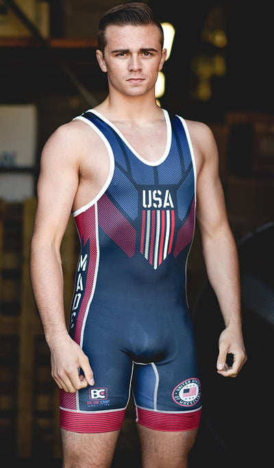 Made 4 U Made In America 2.0 Wrestling Singlet