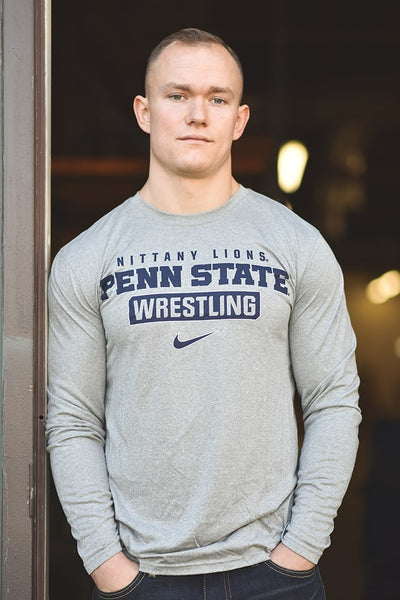 Penn State Nittany Lions Wrestling Nike Dri-Fit Legend 2.0 Long Sleeve