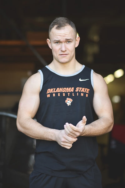 Oklahoma State Cowboys Wrestling Nike Core Cotton Tank