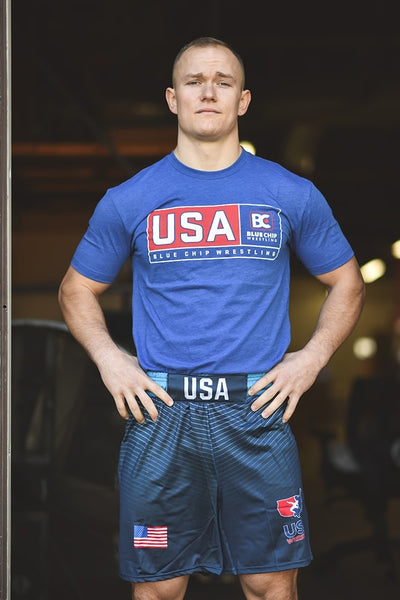 USA Blue Chip Wrestling T-Shirt