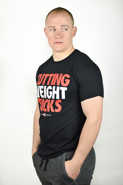 Cutting Weight Sucks v2 Wrestling T-Shirt