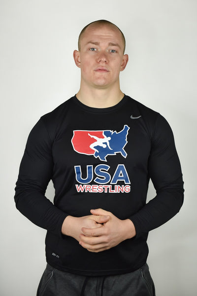 Nike USA Wrestling Legend Long Sleeve (Black)