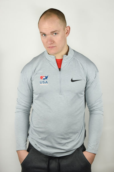 Nike USA Wrestling Half Zip (Grey)