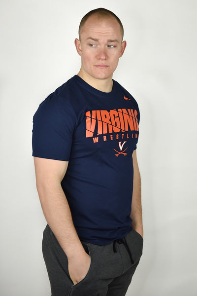 Virginia Cavaliers Wrestling Nike Dri-Fit Cotton Tee