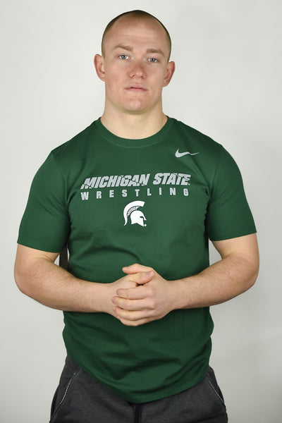 Michigan State Spartans Wrestling Nike Dri-Fit Cotton Tee