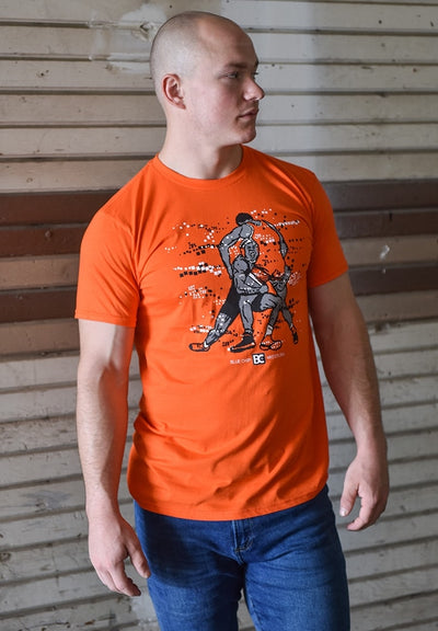 Orange Blue Chip Wrestling T-Shirt