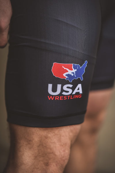 Nike USA Wrestling Grappler Singlet (Black)