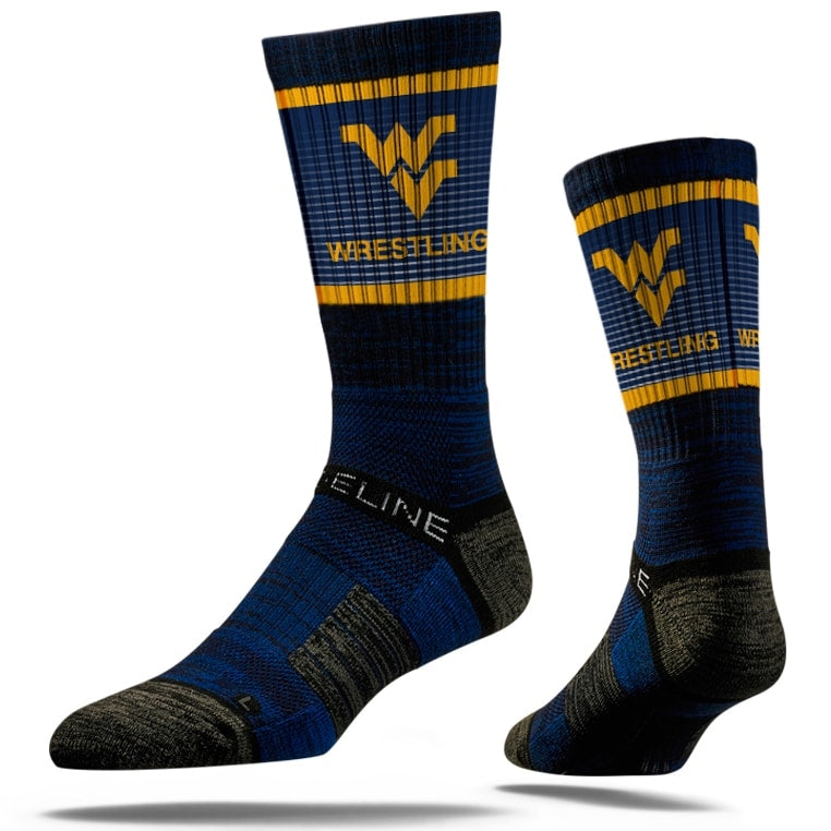 West Virginia Mountaineers Performance Wrestling Socks