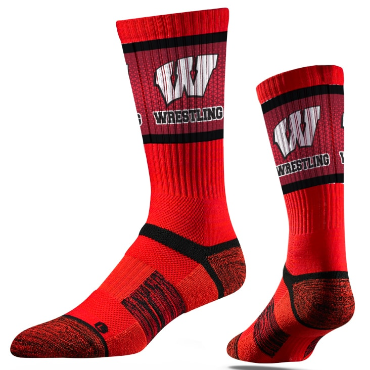 Wisconsin Badgers Wrestling Performance Socks