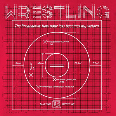 Wrestling Mat Blueprint Wrestling T-Shirt