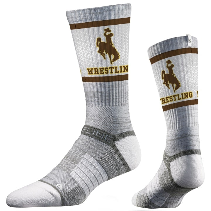 Wyoming Cowboys Wrestling Performance Socks