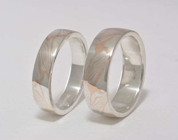 rings wedding ash mokume gane ring