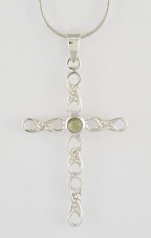 Custom: Eternal Love Celtic Knot Cross with Stone