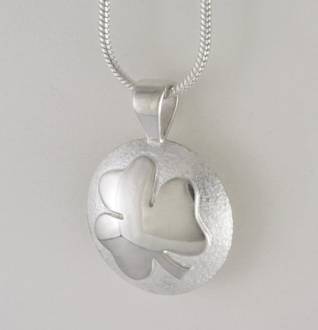 Custom: Sterling Silver Shamrock Memorial Urn / Cremation Pendant