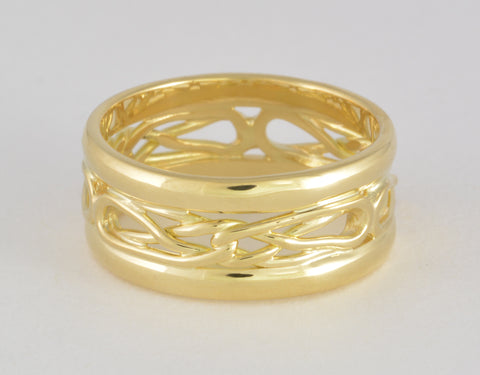 Custom: 18kt Yellow Gold Stacked Celtic Knot Ring